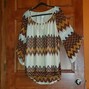 Like new multi color top